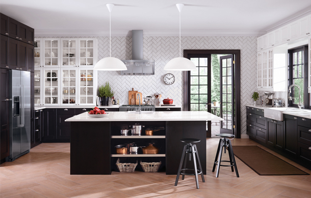 Is an ikea kitchen right for you spectator tribune - Cuisine noir mat ikea ...
