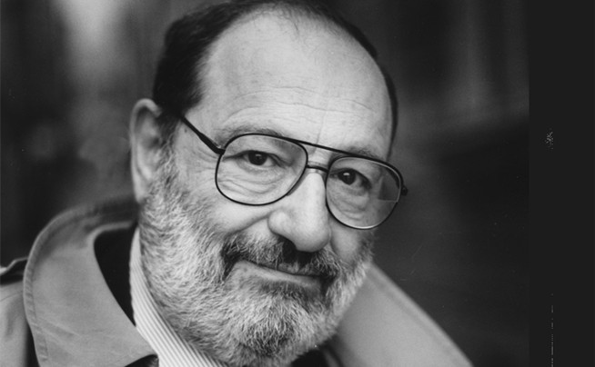 Author Umberto Eco.