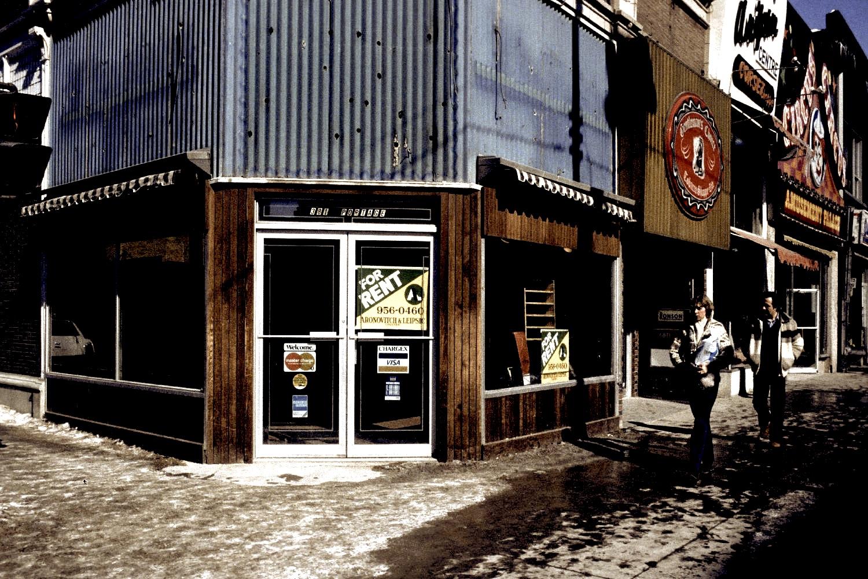 The northeast corner of Portage Avenue and Edmonton Street.